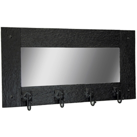 Cedarvale Wall Mirror Coat Rack | 4 Hooks