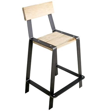 Pictured here is the Urban Forge 25-inch Iron Counter Stool hand-forged by Stone County Ironworks.