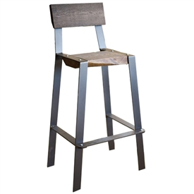 Pictured here is the Urban Forge 30-inch Iron Barstool hand-forged by Stone County Ironworks.