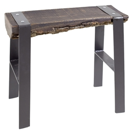 Pictured here is the Urban Forge 21-inch Iron Bench hand-forged by Stone County Ironworks.
