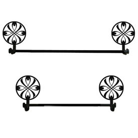 Wrought Iron Ribbon Towel Bar