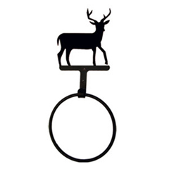 Wrought Iron Deer Towel Ring