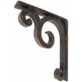 "Keaton Wrought Iron Corbel | 2"" Wide"