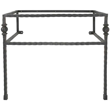 Parkview Iron Bathroom Vanity Base With Legs 35 5 In