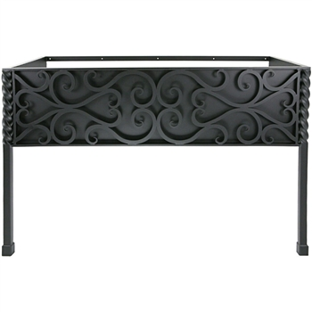 Pictured here is the 47.5 inch wide Paisley Iron Bathroom Vanity Base with legs available in several finish options.