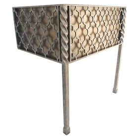Pictured here is the 47.5 inch wide Victoria Iron Bathroom Vanity Base with legs available in several finish options.