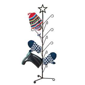 Wrought Iron Star Deluxe Mitten Dryer Stand
