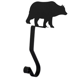 Wrought Iron Bear Stocking Holder