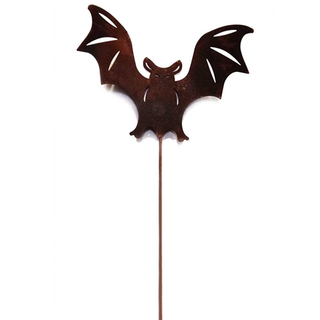Pictured here is our Wrought Iron Rusted Bat Garden Stake