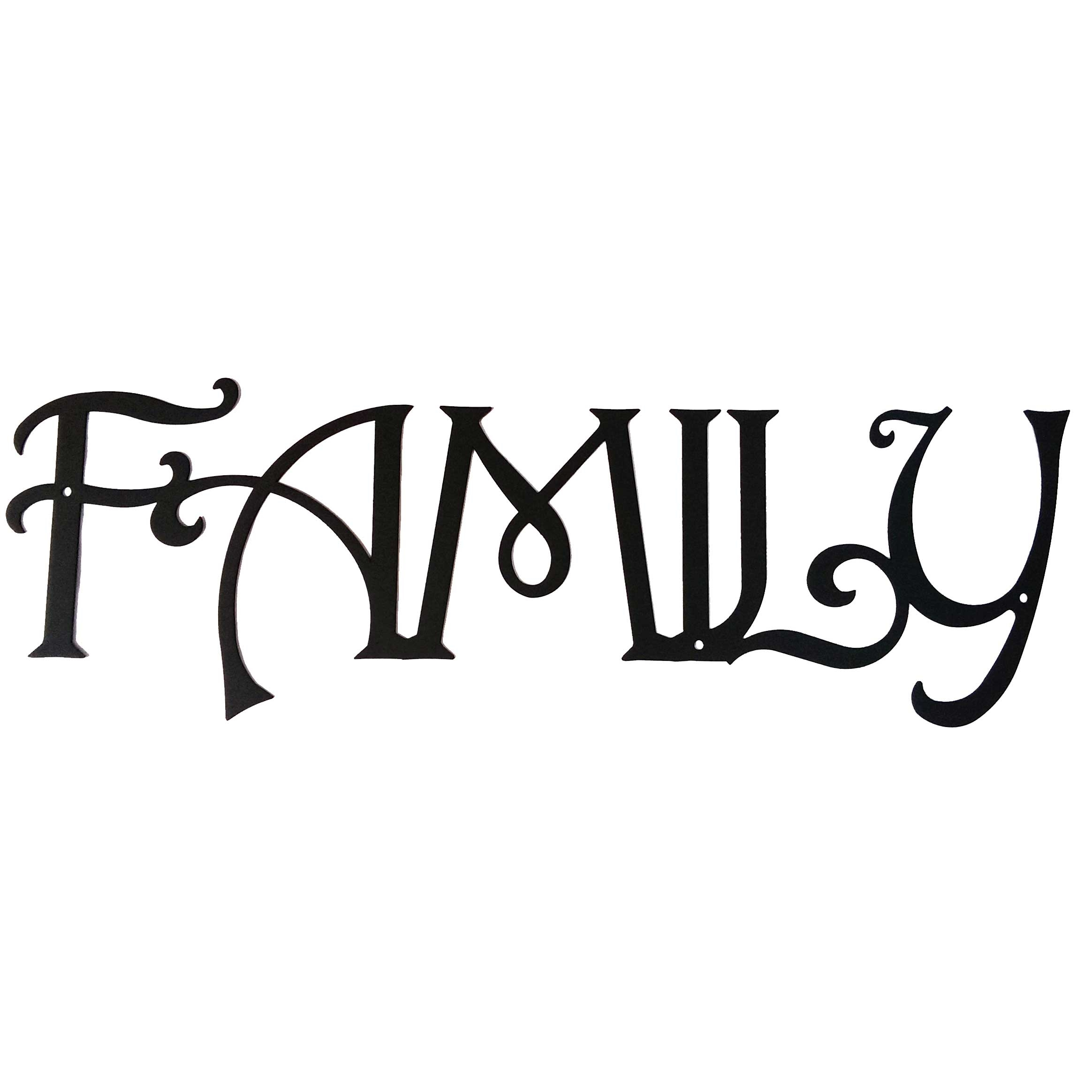 Family Metal Wall Art family - inspirational metal words