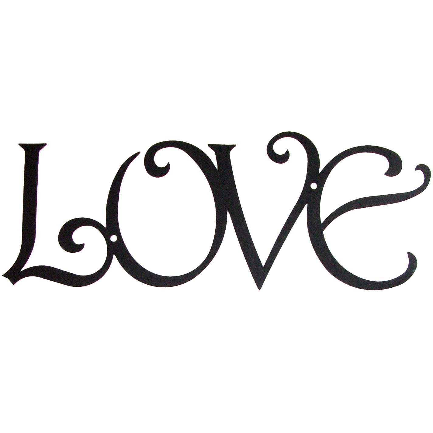 "Rod Iron Wall Decor Love"" Iron Wall Text  Indoor Outdoor"