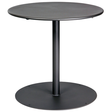 "Pictured is the ADA Solid Iron Top 30"" Round Bistro Table from Woodard Outdoor Furniture, sold by Timeless Wrought Iron."