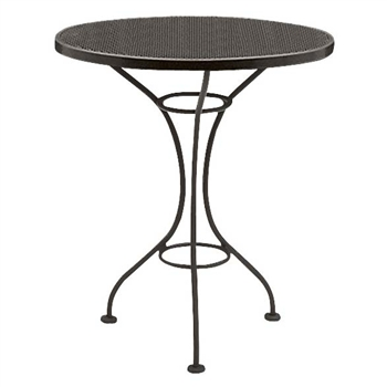 "Pictured is the Parisienne 25"" Round Bistro Table with Mesh Top from Woodard Outdoor Furniture, sold by Timeless Wrought Iron."