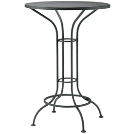 "Pictured is the Aurora 30"" Round Bistro Table with Mesh Top from Woodard Outdoor Furniture, sold by Timeless Wrought Iron."