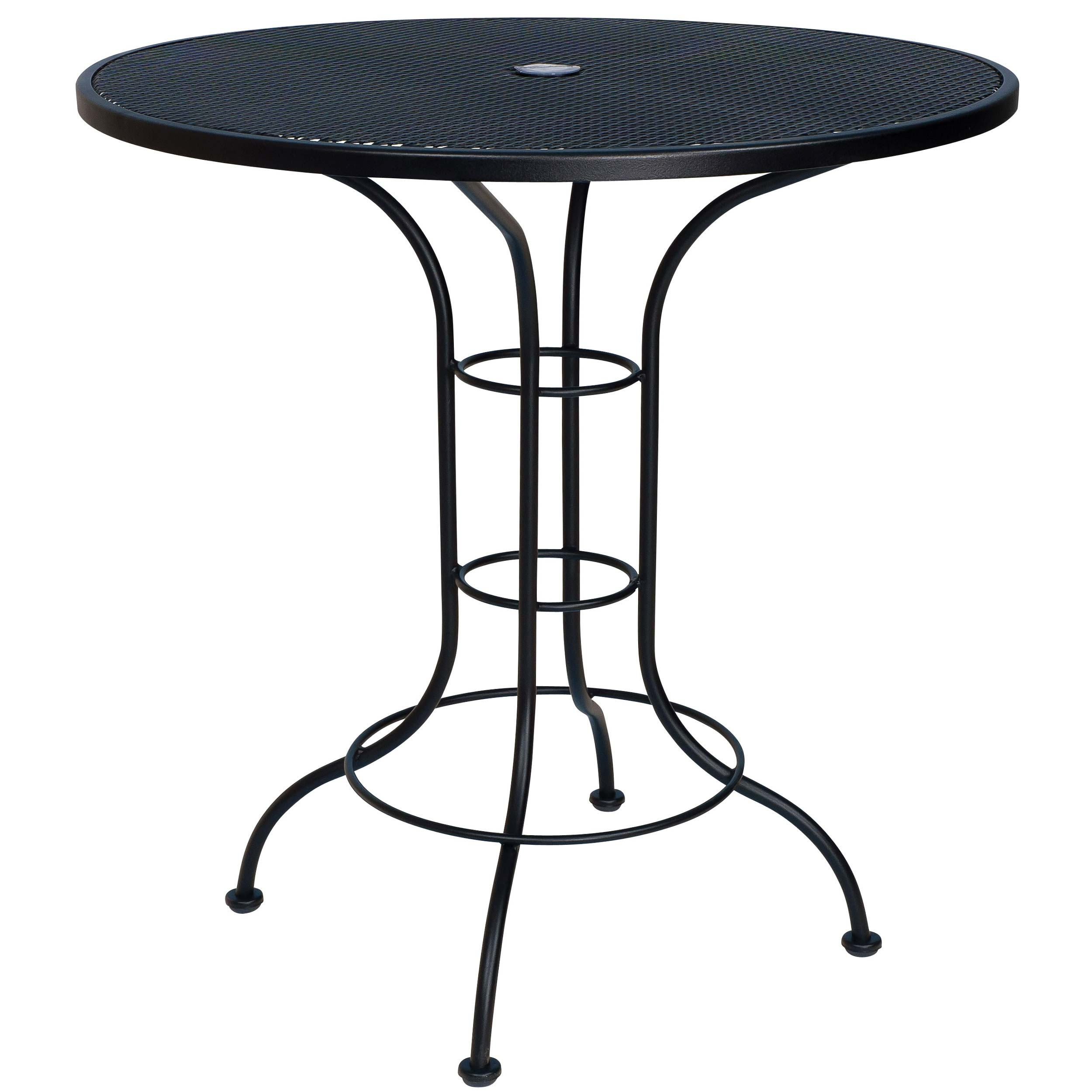 Outdoor round table top 36 - Pictured Is The 36 Round Counter Height Outdoor Bistro Table With Mesh Top From Woodard