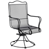 Pictured is the Tucson High Back Swivel Rocker from Woodard Outdoor Furniture, sold by Timeless Wrought Iron.