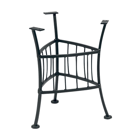 "Pictured is the Easton Outdoor End Table With 22"" Napa Top Woodard Furniture, sold by Timeless Wrought Iron."