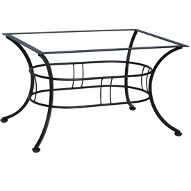 "Pictured is the Easton 36"" x 48"" Coffee Table with Napa Top from Woodard Outdoor Furniture, sold by Timeless Wrought Iron."
