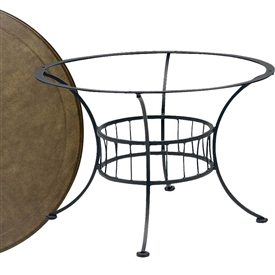 Pictured is the Easton Chat Table with Solid Cast Top from Woodard Outdoor Furniture, sold by Timeless Wrought Iron.