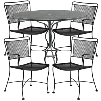 Pictured here is the Constantine 5 pc. Dining Set manufactured by Woodard.