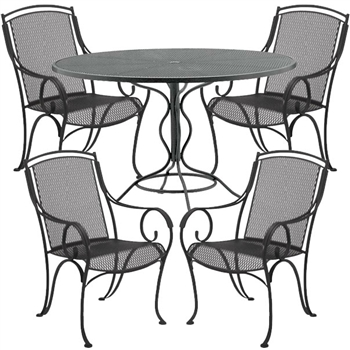 Pictured here is the Modesto 5 pc. Dining Set manufactured by Woodard.