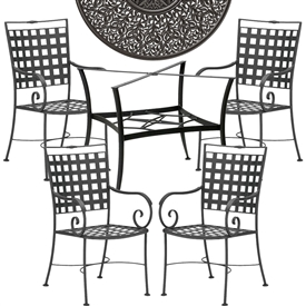 Pictured here is the Sheffield 5 pc. Dining Set manufactured by Woodard.