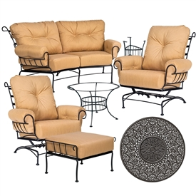 Pictured here is the Terrace 6 pc. Lounge Set manufactured by Woodard.