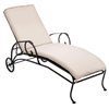 Pictured is the Modesto Adjustable Chaise Lounge from Woodard Outdoor Furniture, sold by Timeless Wrought Iron.