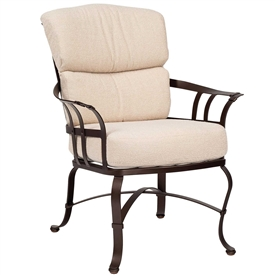 Pictured here is the Atlas Outdoor Dining Chair from Woodard.