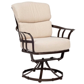Pictured Here Is The Atlas Outdoor Swivel Dining Chair With Upholstered  All Weather Seat Cushions