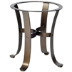 Pictured here is the Cascade Outdoor End Table Base with Finish and Table Top Options from Woodard.