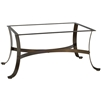 Pictured here is the Cascade Outdoor CoffeeTable Base with Finish and Table Top Options from Woodard.