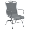 Pictured is the Briarwood High Back Coil Spring Chair from Woodard Outdoor Furniture, sold by Timeless Wrought Iron.