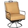 Pictured is the Briarwood Swivel Rocking Lounge Chair from Woodard Outdoor Furniture, sold by Timeless Wrought Iron.