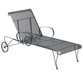 Pictured is the Universal Adjustable Chaise Lounge from Woodard Outdoor Furniture, sold by Timeless Wrought Iron.