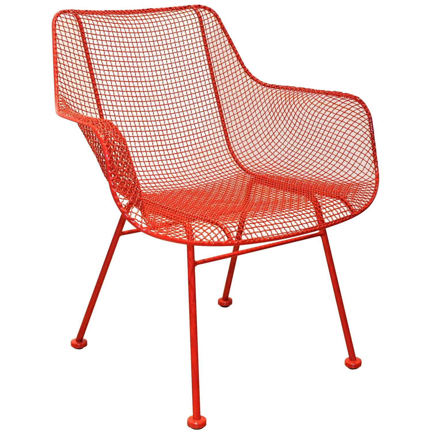 Sculptura outdoor occasional chair formed wire mesh seat