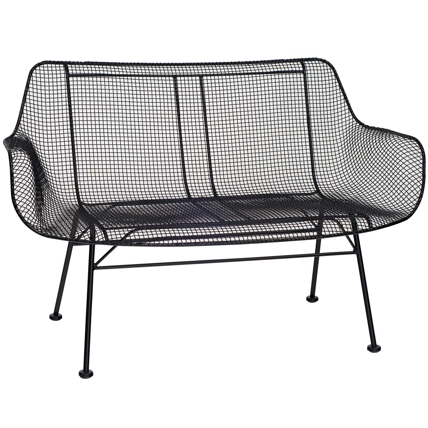 Outdoor Bench With Formed Wire Mesh Seat