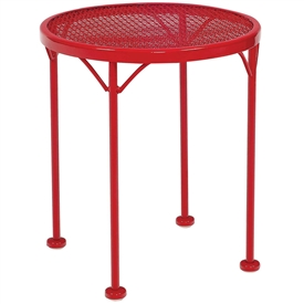 Pictured here is the17 inch diameter Sculptura End Table with mesh table top from Woodard