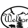 Wrought Iron Bear Welcome Sign