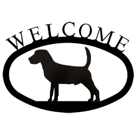 Wrought Iron Welcome Sign Small - Beagle