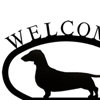 Wrought Iron Welcome Sign Small - Dachshu