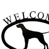 Wrought Iron Welcome Sign Small - Pointer