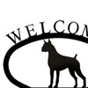 Wrought Iron Welcome Sign Small - Boxer