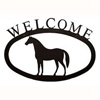 Wrought Iron Standing Horse Welcome Sign
