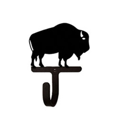 Wrought Iron Buffalo Wall Hook Extra Small