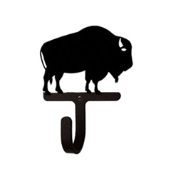 Wrought Iron Buffalo Wall Hook Small