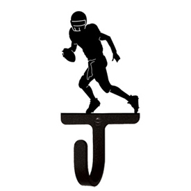 Wrought Iron Football Player Wall Hook Small