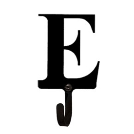 Wrought Iron Letter E Wall Hook