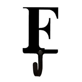 Wrought Iron Letter F Wall Hook