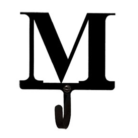 Wrought Iron Letter M Wall Hook